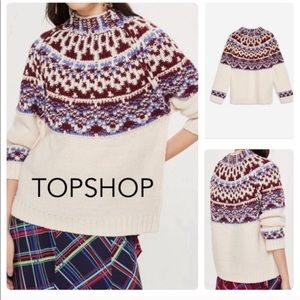 Topshop Nordic Icelandic Loose Knit Sweater